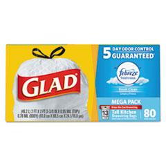 CLO78899BX - Glad® OdorShield® Tall Kitchen Drawstring Bags