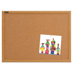 QRT85223 - Quartet® Cork Bulletin Board with Oak Frame