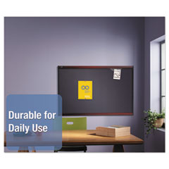 QRTB444M - Quartet® Prestige™ Gray Diamond Mesh Bulletin Board