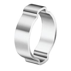OET320-10100029 - Oetiker - 2-Ear Clamps, Zinc-Plated, 0.709-0.866 Dia, 0.354W, Steel, 100/Bg