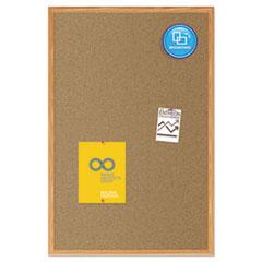 MEA85366 - Quartet® Economy Cork Board with Oak Frame
