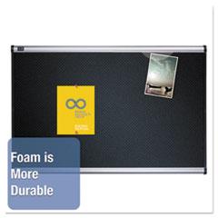QRTB347A - Quartet® Prestige™ Black Embossed Foam Bulletin Board
