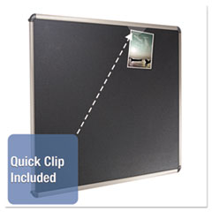 QRTB367T - Quartet® Prestige™ Euro Style Black Embossed Foam Bulletin Board