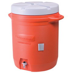 RUB325-1610-01-11 - Rubbermaid - Water Coolers, 10 Gal, Orange