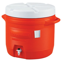 RUB325-1655-01-11 - Rubbermaid - Plastic Water Coolers, 7 Gal, Orange