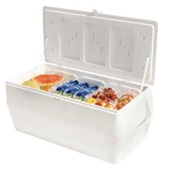 RUB325-FG2B8008TRWHT - RubbermaidMarine Series Ice Chests, 150 Qt, White