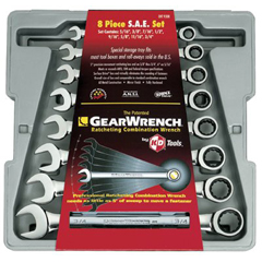 GWR329-9308 - GearWrench8 Piece Combination Ratcheting Wrench Sets