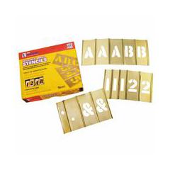 CHH337-10155 - C.H. HansonBrass Stencil Letter & Number Sets