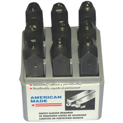 CHH337-26141 - C.H. HansonLow Stress Full Character Steel Hand Stamp Sets