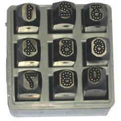 CHH337-26641 - C.H. HansonLow Stress Dot Design Steel Hand Stamp Sets