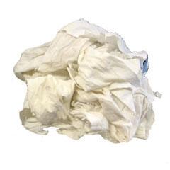 HSC340-10 - HospecoReclaimed White T-Shirt Rags