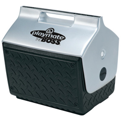 IGL385-43581 - IglooPlaymate The Boss Coolers, 14 Qt, Black/Silver