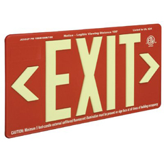 JSS397-7072-B - JessupGlo Brite® Eco Plastic Molded Exit Signs