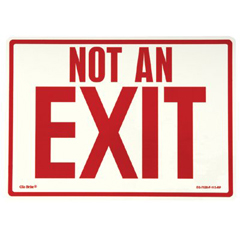 397-EG-7520-F-113-RP - JessupGlow In The Dark Exit Signs