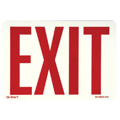 397-FS-7520-F-316 - JessupGlow In The Dark Exit Signs
