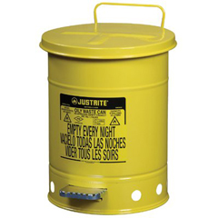 JUS400-09101 - JustriteYellow Oily Waste Cans