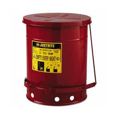 JUS400-09300 - Justrite - Red Oily Waste Cans