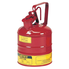 JUS400-10301 - JustriteType L Safety Cans For Flammables, Storage Can, 1 Gal, Red, Flame Arrestor