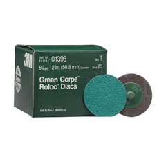 3MA405-051131-01396 - 3M AbrasiveGreen Corps™ Roloc™ Grinding Coated-Polyester Disc