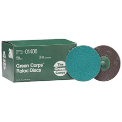3MA405-051131-01406 - 3M AbrasiveGreen Corps™ Roloc™ Grinding Coated-Polyester Disc