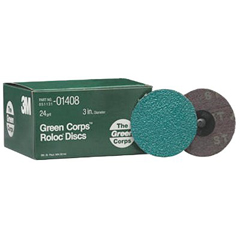 3MA405-051131-01408 - 3M AbrasiveGreen Corps™ Roloc™ Grinding Coated-Polyester Disc