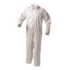 KIM138-38921 - Kimberly Clark ProfessionalKleenGuard® A35 Coveralls, Shell, Open Wrist/Ankles, White, 3XL