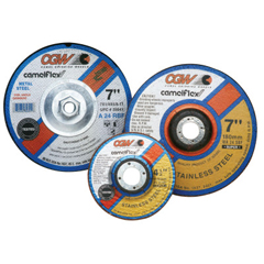 CGW421-37535 - CGW Abrasives - Depressed Center Grinding Wheel, Type 27, 5 In Dia, 1/4 Thick, 24 Grit Zirconia