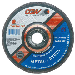 CGW421-45007 - CGW AbrasivesQuickie Cut™ Extra Thin Cut-Off Wheels, Type 27