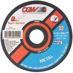 CGW421-45098 - CGW AbrasivesSuper Quickie Cut™ Reinforced Cut-Off Wheels