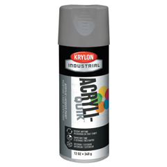 ORS425-K01605A07 - KrylonInterior/Exterior Industrial Maintenance Paints, 12 oz Aerosol Can, Stone Gray