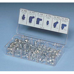 LCI438-5469 - Lincoln IndustrialDeluxe Grease Fitting Assortments, 100 Assorted/Six Sizes