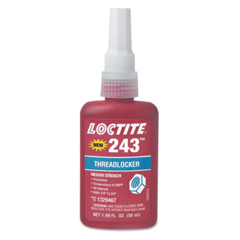 LOC442-1330255 - Loctite243 Medium Strength Blue Threadlockers, 0.5 mL , Blue