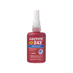 LOC442-1329505 - Loctite243 Medium Strength Blue Threadlockers, 250 mL , 3/4 In Thread, Blue
