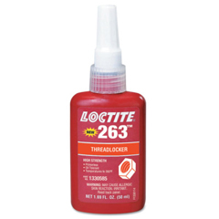 LOC442-1330585 - Loctite - 263 High Strength Red Threadlockers, 50 mL , 1 In Thread