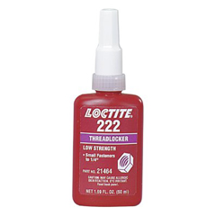 LOC442-21463 - Loctite222™ Threadlocker, Low Strength/Small Screw