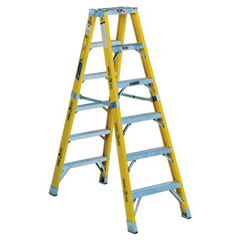 ORS443-FM1110HD - Louisville LadderFM1100HD Series Rhino 375™ Twin Front Fiberglass Mechanic Step Ladders