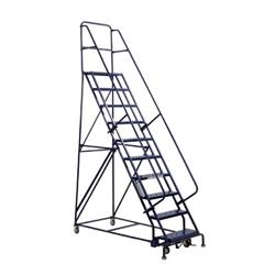 ORS443-GSW2410 - Louisville LadderGSW Series Steel Rolling Warehouse Ladder w/ Handrails