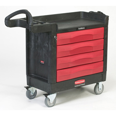 RCP4513-88BLA - TradeMaster® Cart with 4 Drawers