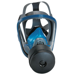 MSA454-10028998 - MSAChin-Type Gas Mask, Medium, Silicone, Particles, Vapors And Gases