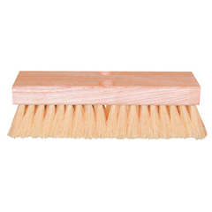 MGB455-10DT - Magnolia BrushDeck Scrub Brushes, 10 In Hardwood Block, 2 In Trim L, White Tampico, W/Handle