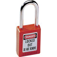 MST470-410RED - Master LockNo. 410 & 411 Lightweight Xenoy Safety Lockout Padlocks