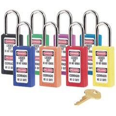 MST470-411LTRED - Master LockNo. 410 & 411 Lightweight Xenoy Safety Lockout Padlocks