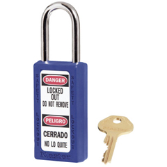 MLK470-411BLU - Master LockNo. 410 & 411 Lightweight Xenoy Safety Lockout Padlocks, Blue, Keyed Diff.
