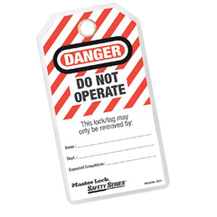 """MST470-497A - Master LockSafety Series™ """"Do Not Operate"""" I.D. Tags"""