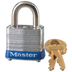 MLK470-7D - Master LockNo. 7 Laminated Steel Pin Tumbler Padlocks, 3/16 Dia, 9/16Lx1/2W, Keyed Diff
