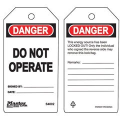 MLK470-S4002 - Master LockGuardian Extreme™ Safety Tags