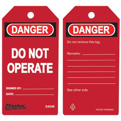 MLK470-S4046 - Master LockGuardian Extreme™ Safety Tags