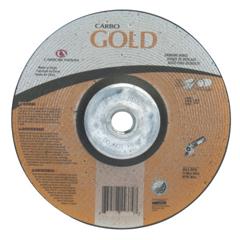 ORS481-05539502858 - CarborundumDepressed Center Wheel, 9 In Dia, 1/4 In Thick, 5/8 Arbor, 24 Grit Alum. Oxide