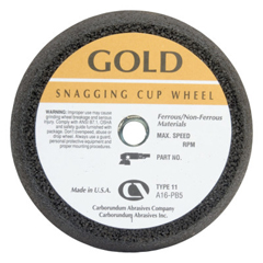 ORS481-05539509160 - CarborundumFlaring Cup Wheel, 6 In Dia, 2 In Thick, Hardness Grade P, 16 Grit Alumina Oxide