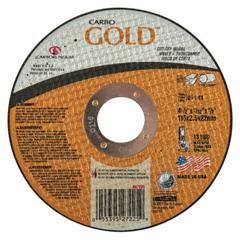 ORS481-05539527225 - CarborundumCarbo™ Goldcut Reinforced Aluminum Oxide Abrasives, Type 1, 4 1/2 X 3/32 X 7/8, 60 Grit